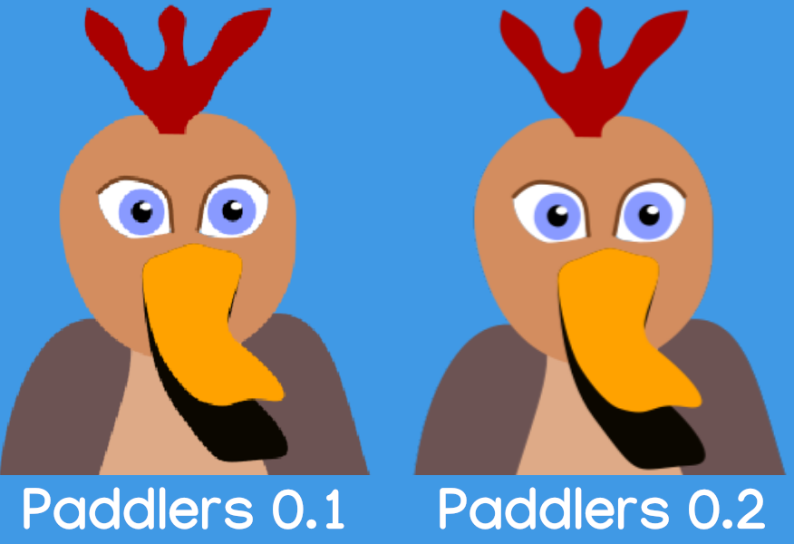 Image: Comparison between an image rendered in Paddlers version 0.1.3 against 0.2.0